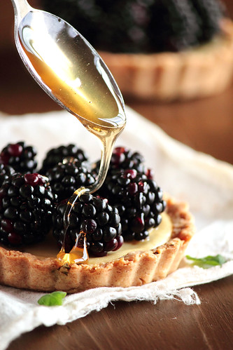 Blackberry Goat Cheese Tart | by pastryaffair