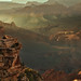 Meditating man on the rock - Grand Canyon