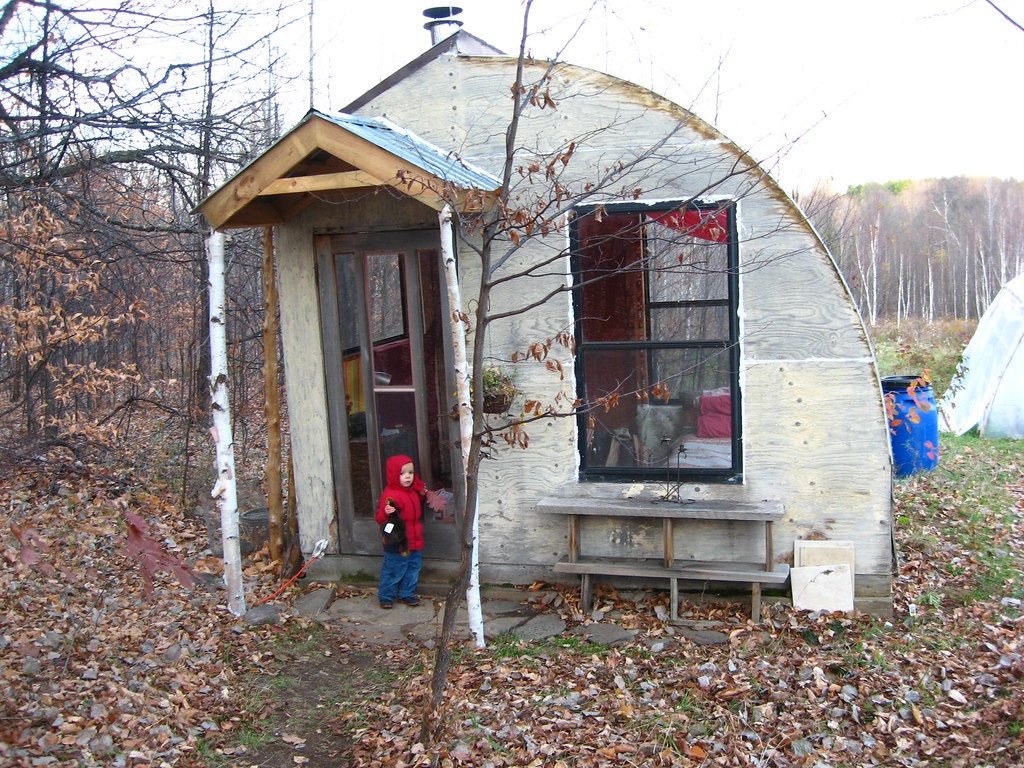 Passive Solar 10x10 Cabin In The Woods Makes A Great