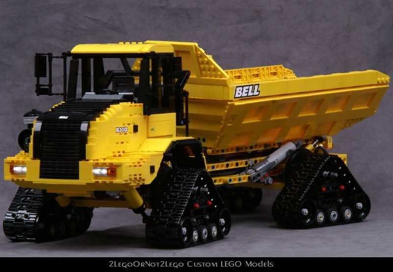 Pictf05 Lego Model Of The Bell B30d Articulated Dump