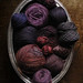 Bee Keeper's Quilt yarn stash: all the purples