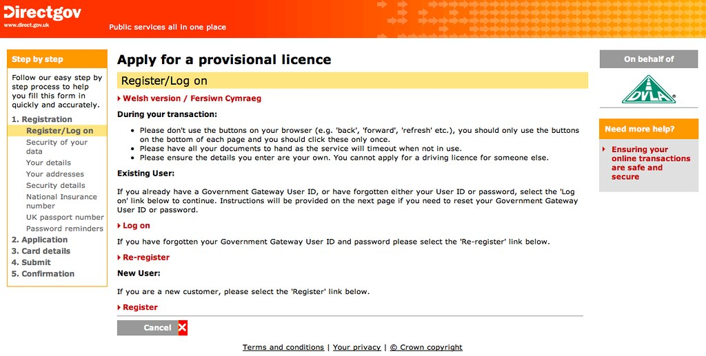 Government Gateway USer ID | Tony Hirst | Flickr