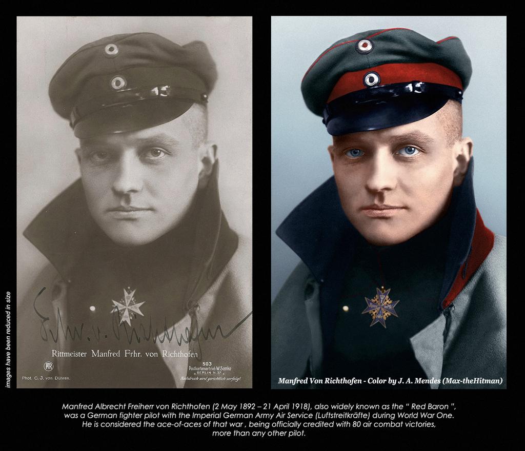 red baron in color 1917 manfred albrecht freiherr von