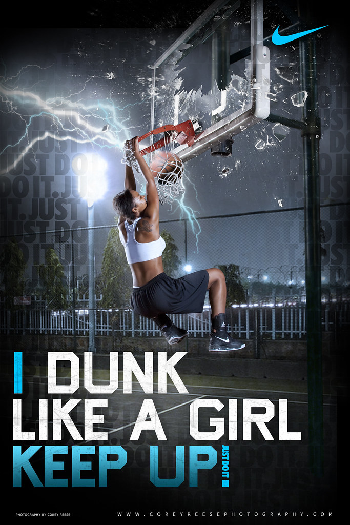 Nike - Creative Retouch & Poster Design (Basketball) | Flickr