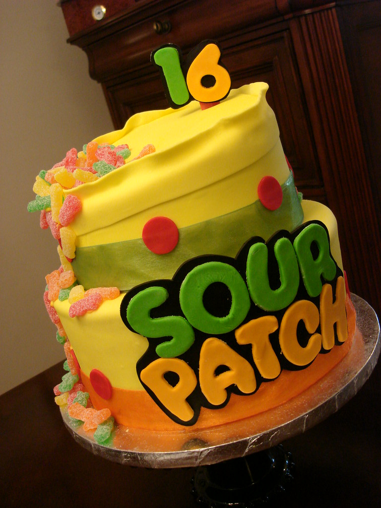Sour Patch Candy Birthday Cake Client Wanted A Cake For