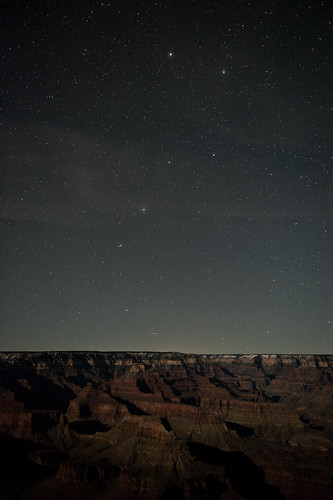 Ursa Major and The Grand Canyon in Moonlight | by kern.justin