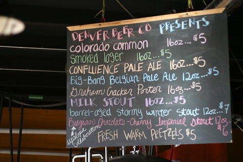 2/28/12 beer menu | by Denver Beer Co