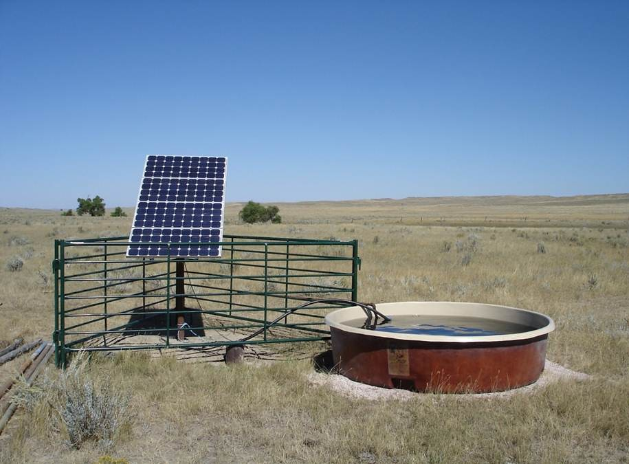 Solar Livestock Watering System Photo By Steve Fletcher