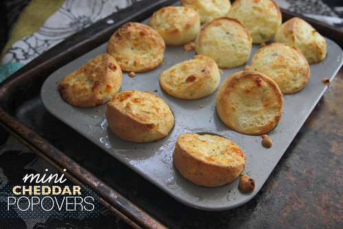 mini cheddar popovers | by shutterbean