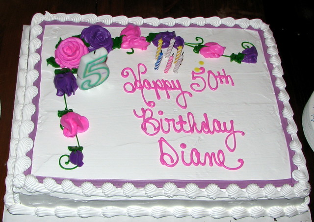 Birthday Cake Images For Diane : Dianes 50th Birthday Cake - 1 Flickr - Photo Sharing!