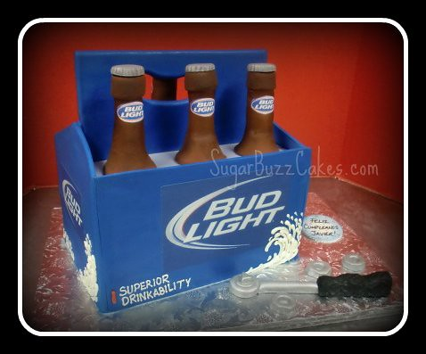 Beer Can Cake With  Pack