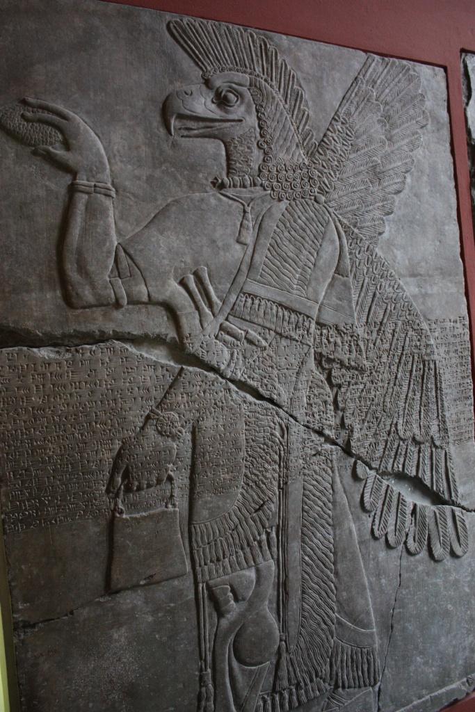 Assyrian Eagle-God with Handbag and Pinecone   Matthew Richardson ...