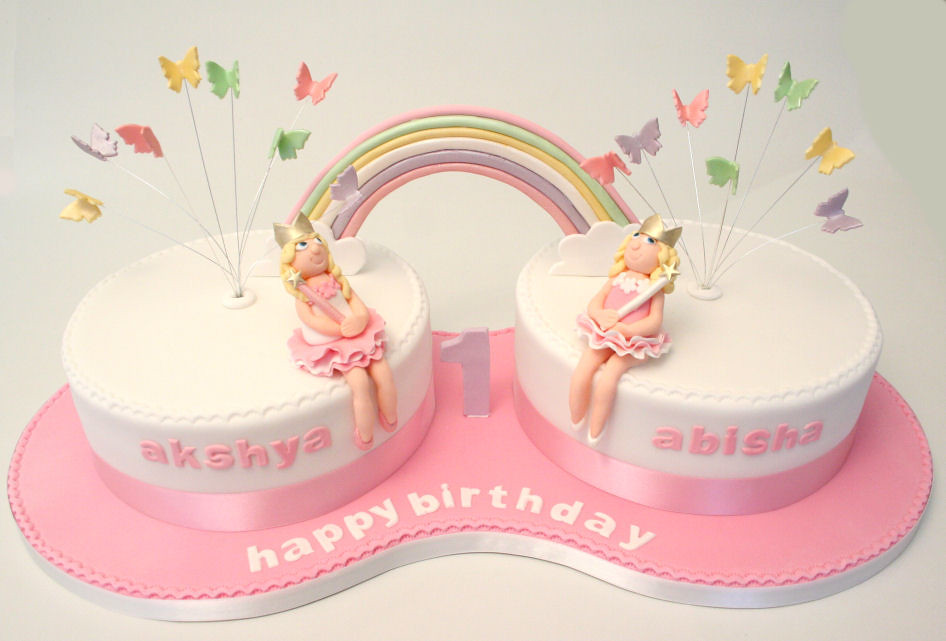 Birthday Cake For Twin Sisters With Name