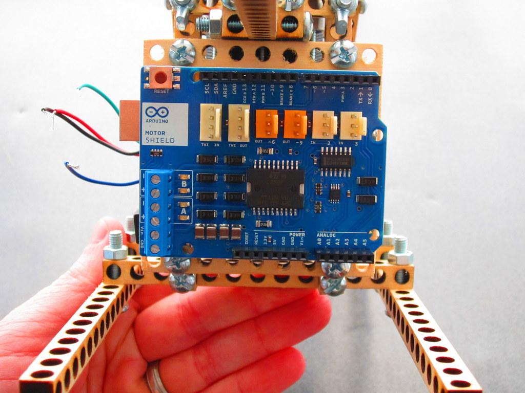 Arduino mounting plate for bitbeam lego technic jason