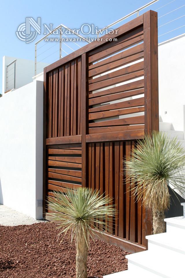 Muro decorativo en madera estructura de madera de pino - Muro de madera ...