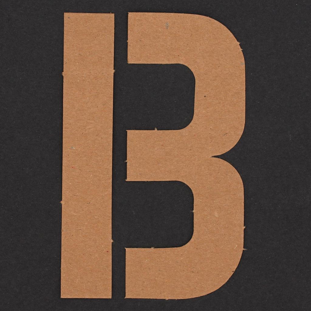 Free Letter B Split Monogram