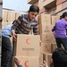 Red Cross / Red Crescent food parcels arrive in Homs, Syria