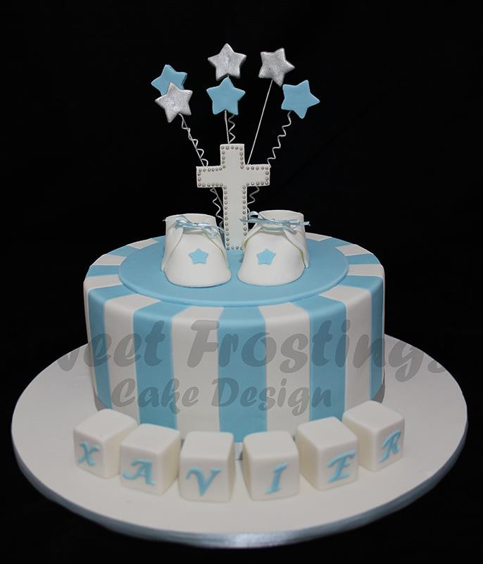 boys baptism cake last minute Baptism cake for an ...