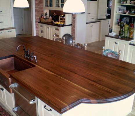 Custom Wood Kitchen Island Top Wood Species Walnut