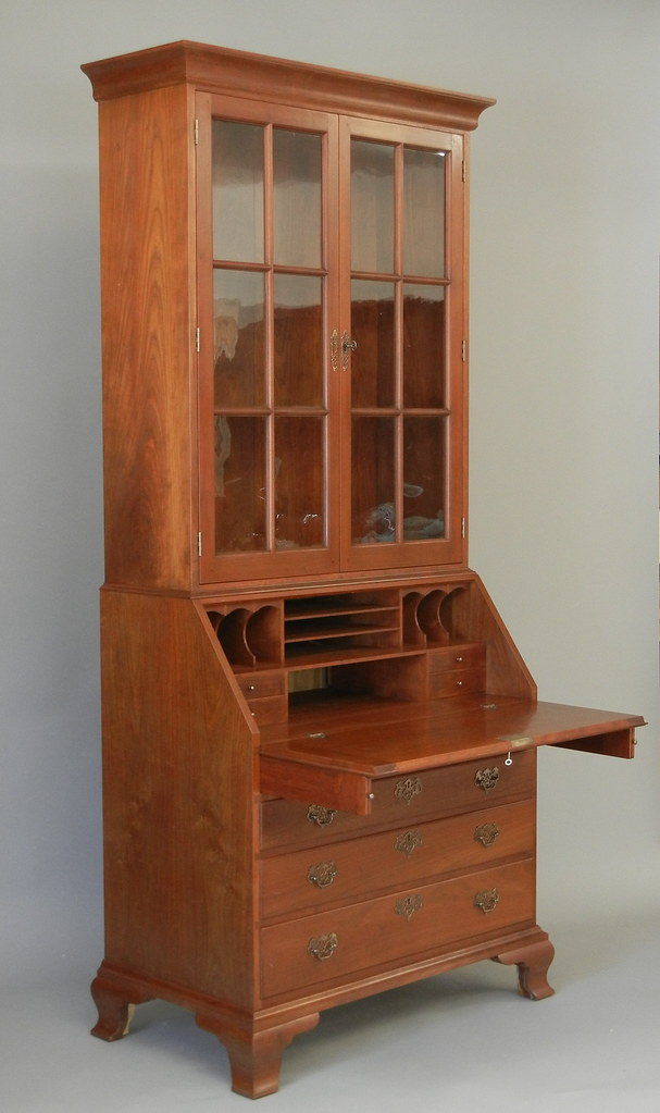 Chippendale secretary desk handmade by doucette and wolfe for C furniture new lynn
