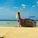 Longboat on the beach / Krabi / Thailand / 29.01.2012