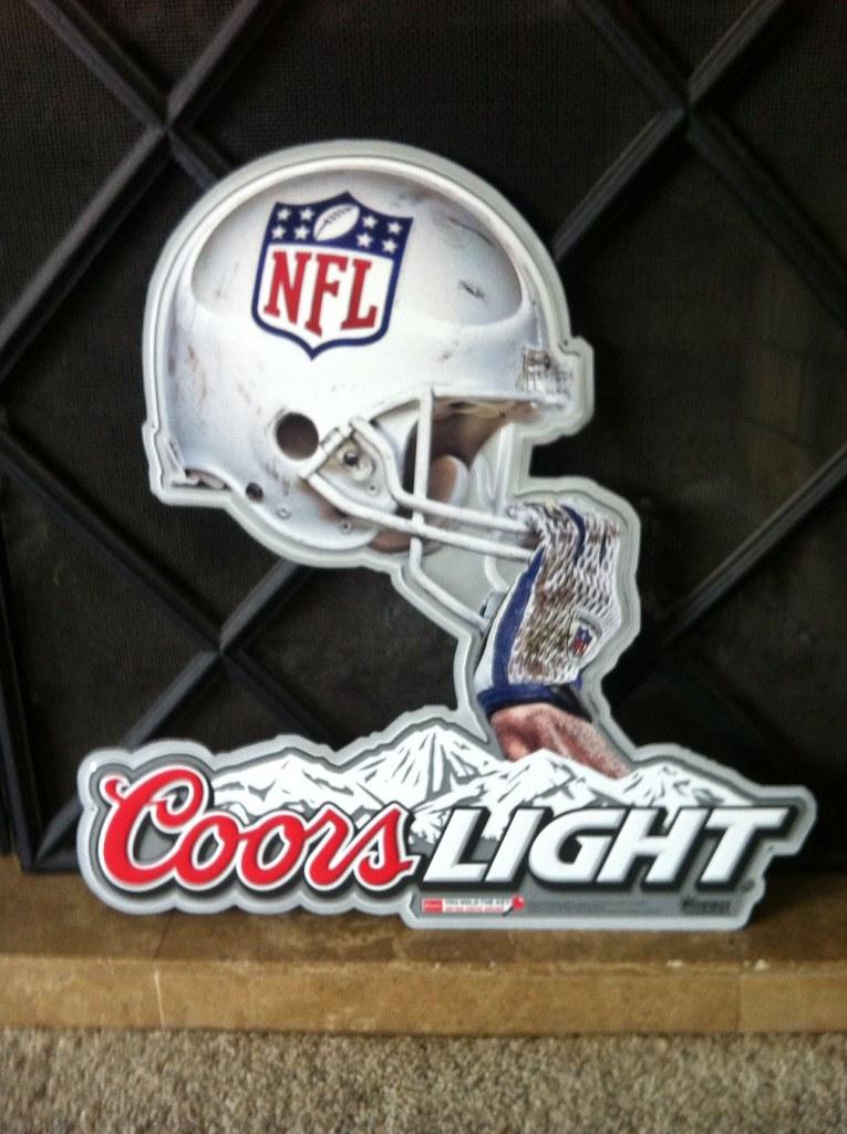 Coors Light Helmet Tin Tacker Beer Sign Neon Beer Signs
