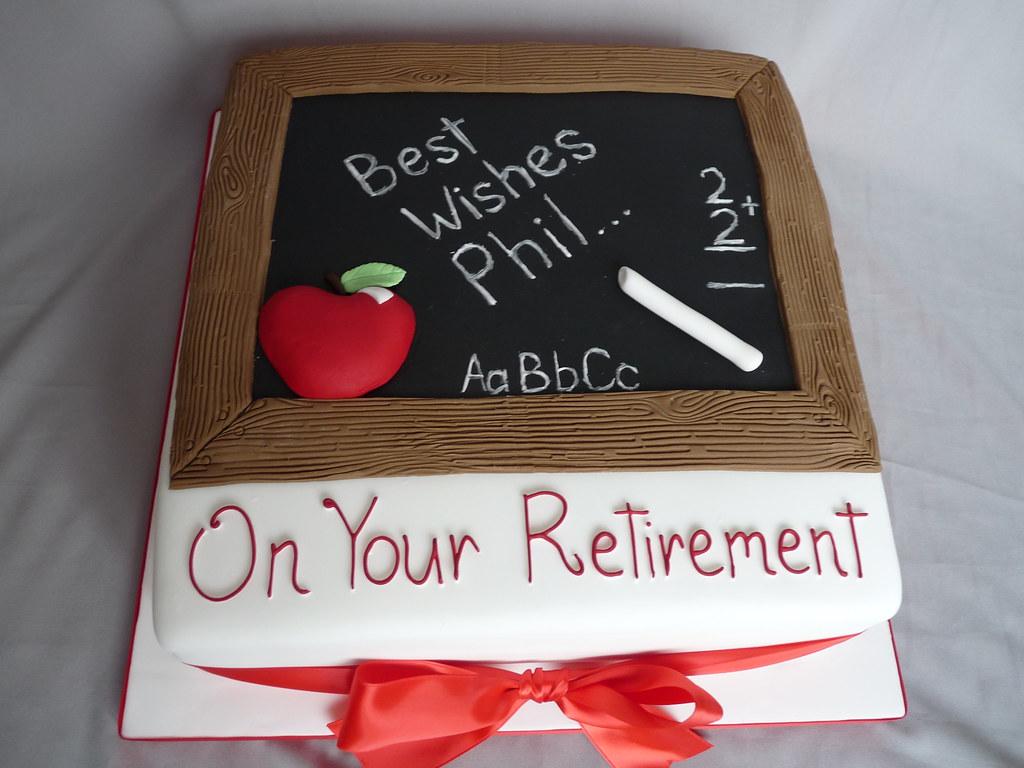 Retirement Cake Designs For Teachers : Teachers retirement cake www.vickiscakes.co.uk Flickr