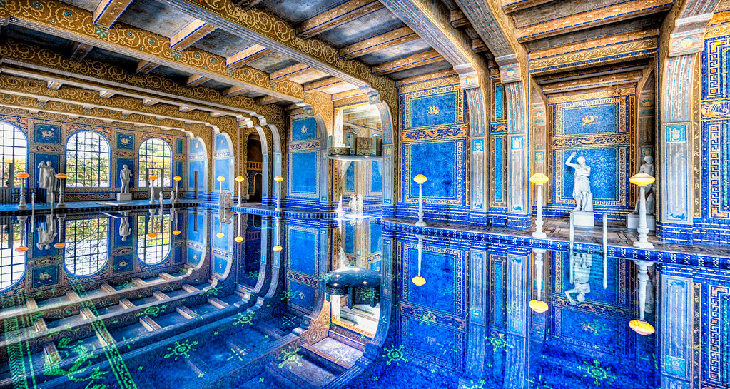 Cool bedrooms with water - Indoor Pool At Hearst Castle The Roman Pool At Hearst Cast