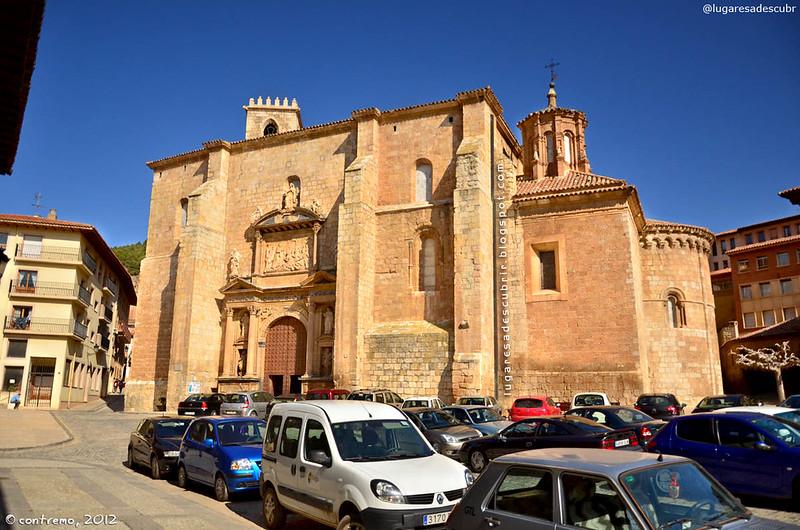 La entrada de Daroca (Zaragoza, España)
