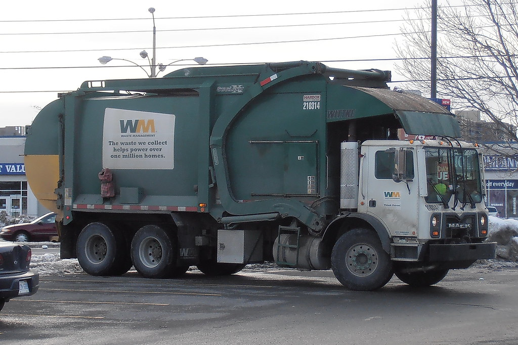 Wm 210314 Mack Front Loader Garbage Truck With Wittke Body
