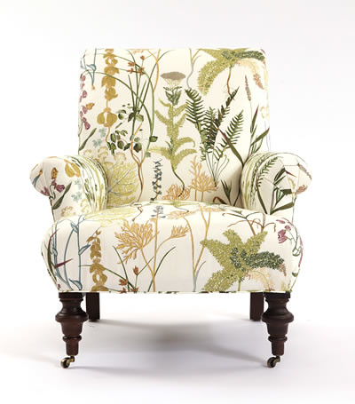 Upholstered Chair In Fern Spring From Calico Corners L Cal