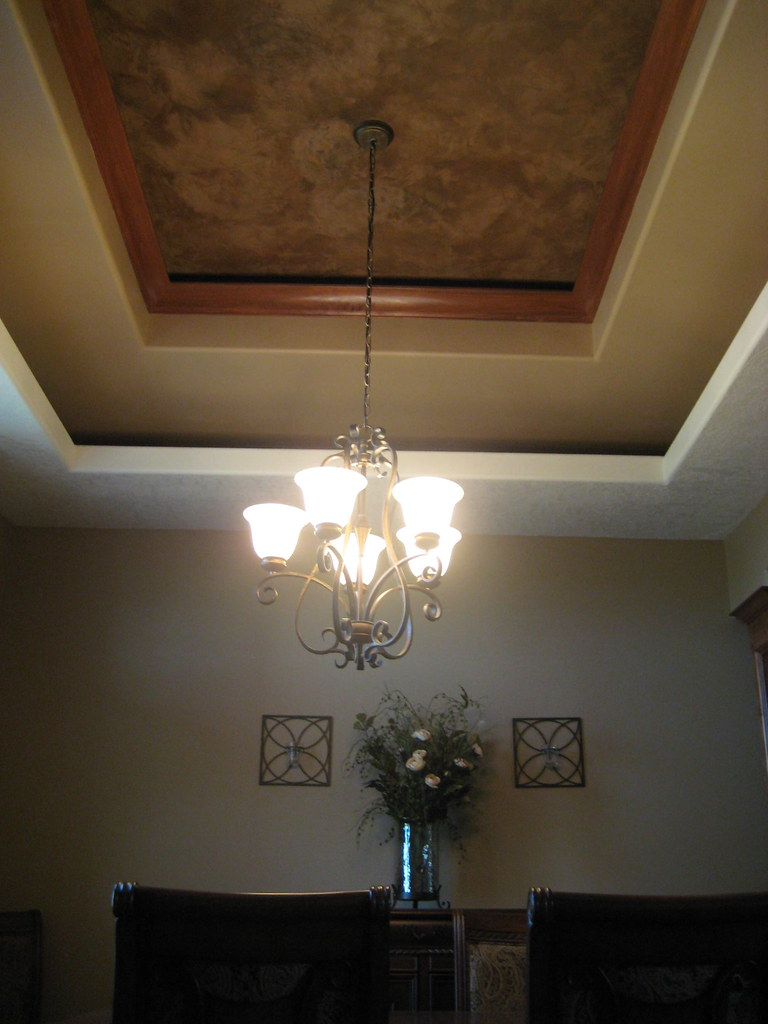 Tray Ceiling Dining Room Italian Venetian Plaster Be