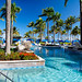 Pool with Palm Trees and Lion Water Spouts, Ritz-Carlton resort Hotel, San Juan, Puerto Rico