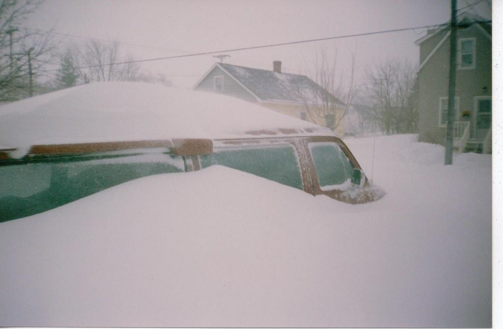 161 Cm Snow Storm Moncton New Brunswick Canada Jan 31