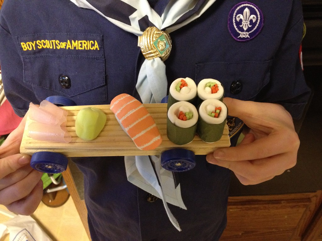 Pinewood Derby Car Quot Sushi To Go Quot My Son With His