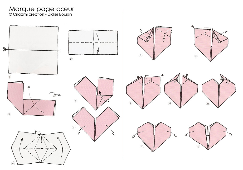 origami cr ation didier boursin diagramme marque page flickr. Black Bedroom Furniture Sets. Home Design Ideas