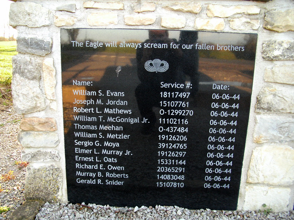 Easy Company 101st Airborne Memorial At Franqueville L