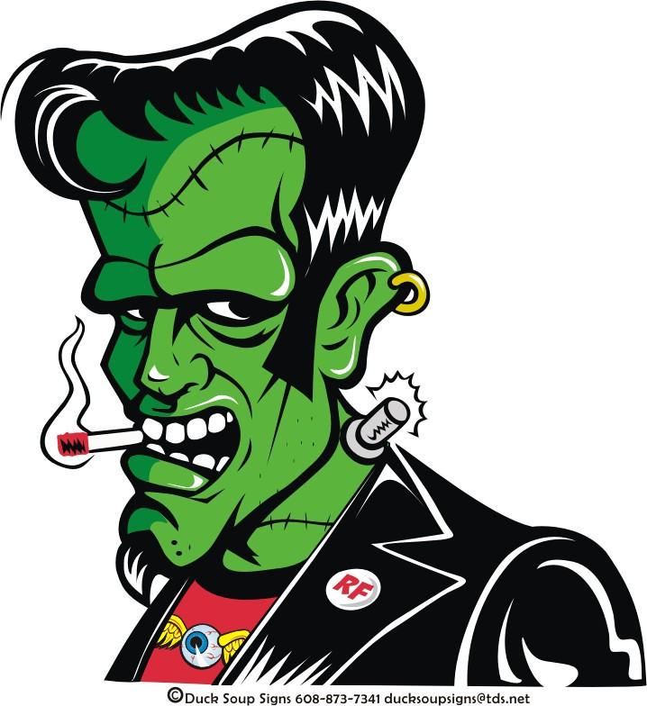 Rockabilly Frankee The Sticker Get A Copy Of This
