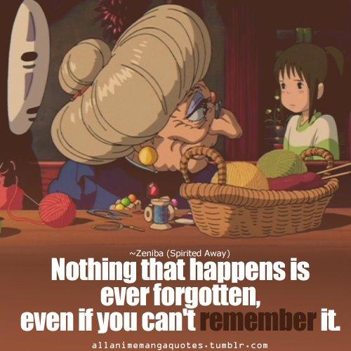 Anime quotes: Spirited...