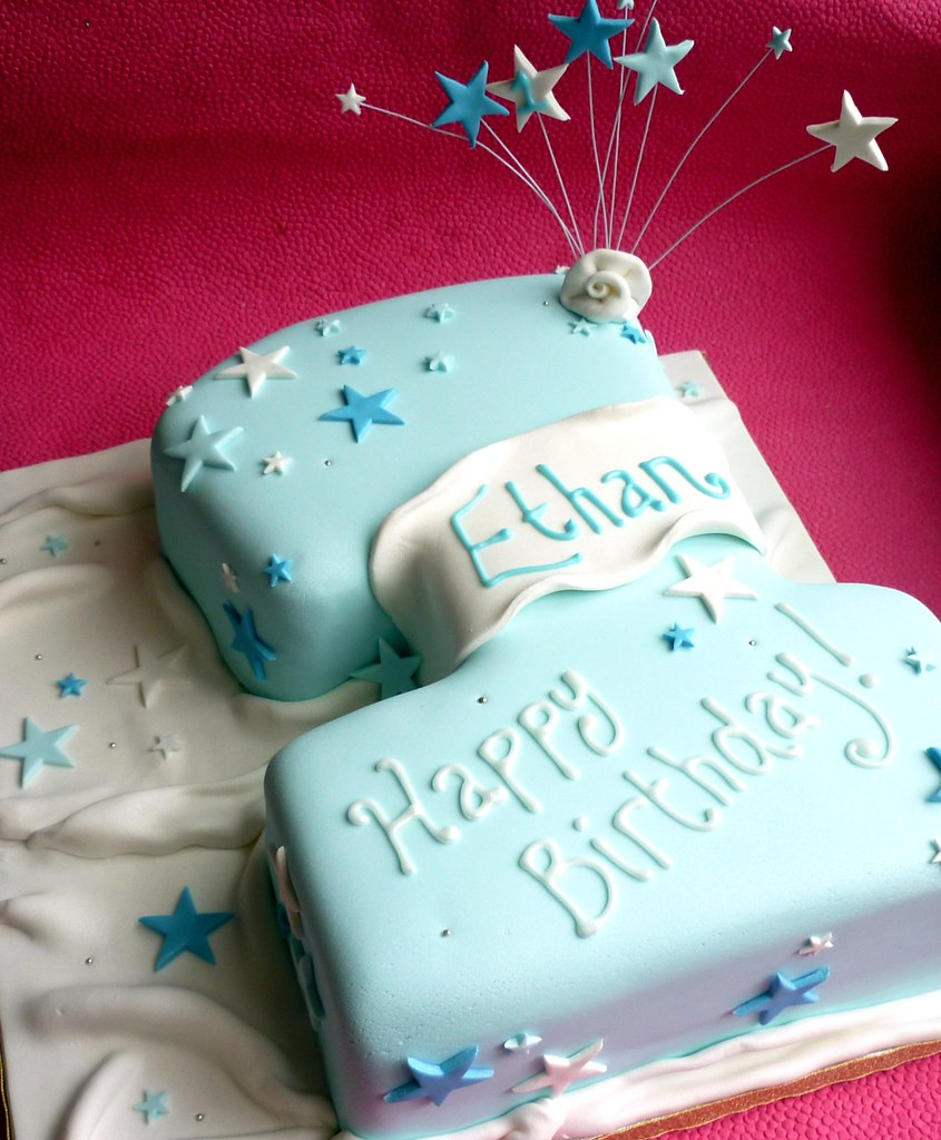 "Number 1 shaped 1st birthday cake | 12"" cake made to match ..."