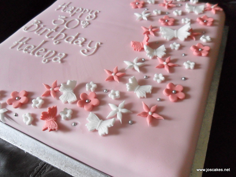 Single Tier Butterflies And Blossoms Birthday Cake Flickr