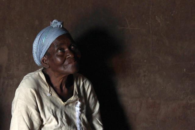 African eyes praying to God