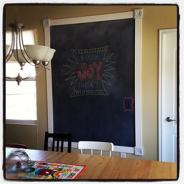 Chalkboard Paint On Kitchen Walls