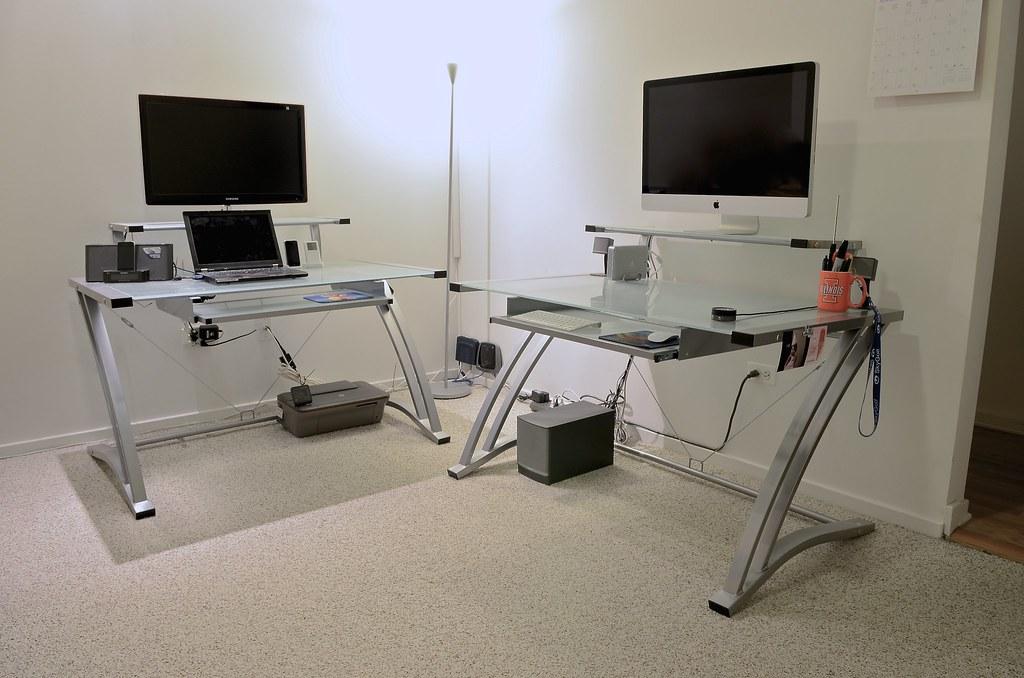 ZLine Matrix 60inch Glass Computer Desk