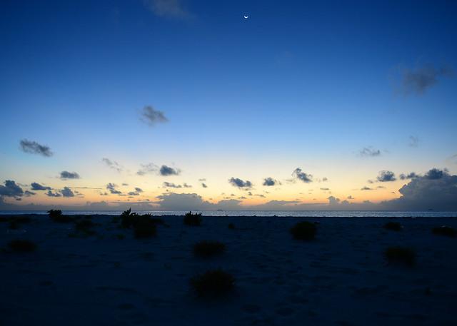 Atardecer en la isla de Odagalla en Maldivas