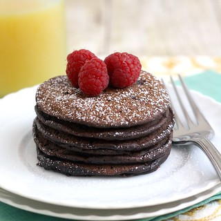 Brownie Batter Pancakes | by Tracey's Culinary Adventures