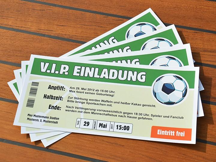 vip einladungskarte fußball | mit wunschblatt erstellst du