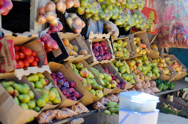 Fruit stand in Southern Africa