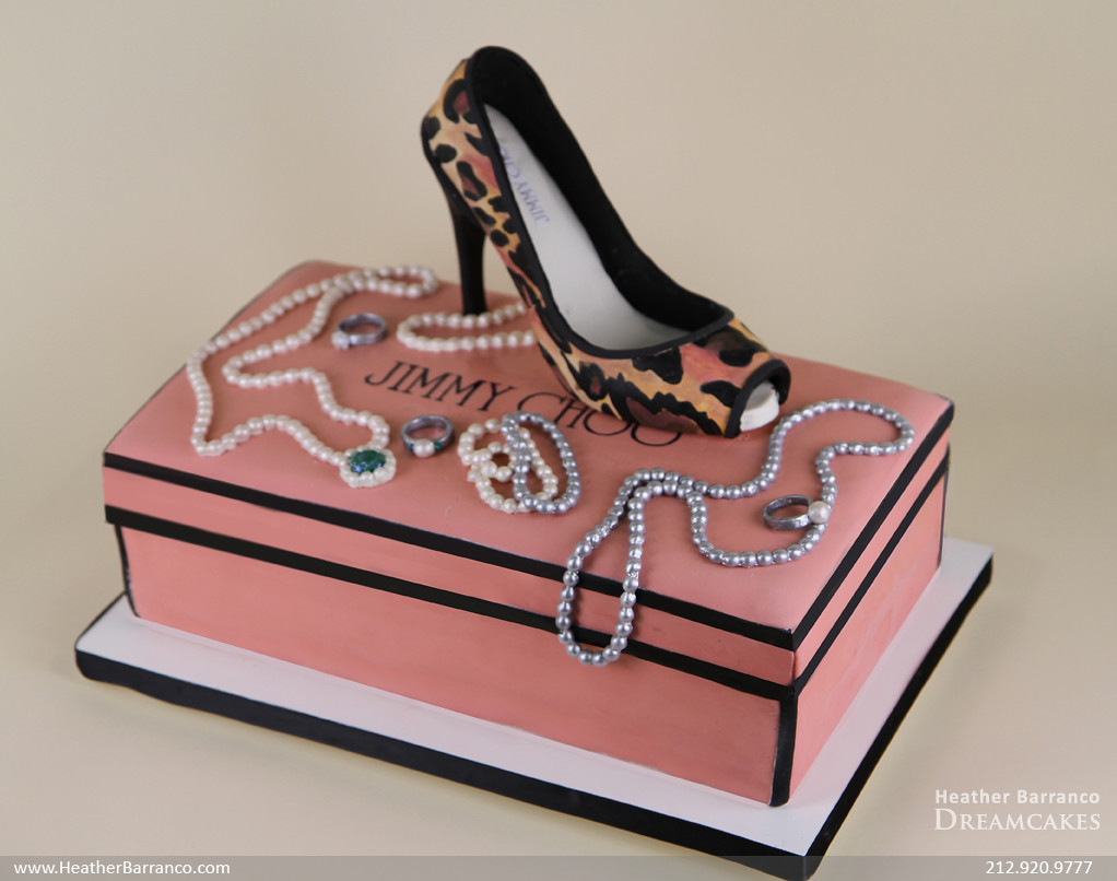 Jimmy Choo Shoe Cake Pink And Leopard Print Jimmy Choo