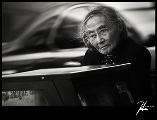 Pasadena Street Photography - Lost In Her Own Thoughts - Explore 3.16.12 | by Hsin Tai Liu